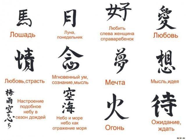 Красивые иероглифы и их значения фото 675-702