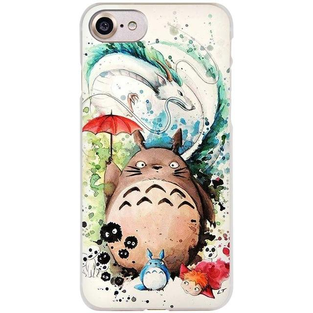 size 40 fde97 1200f BINYEAE Studio Ghibli Ghiblies totoro Clear Cell Phone Case Cover ...