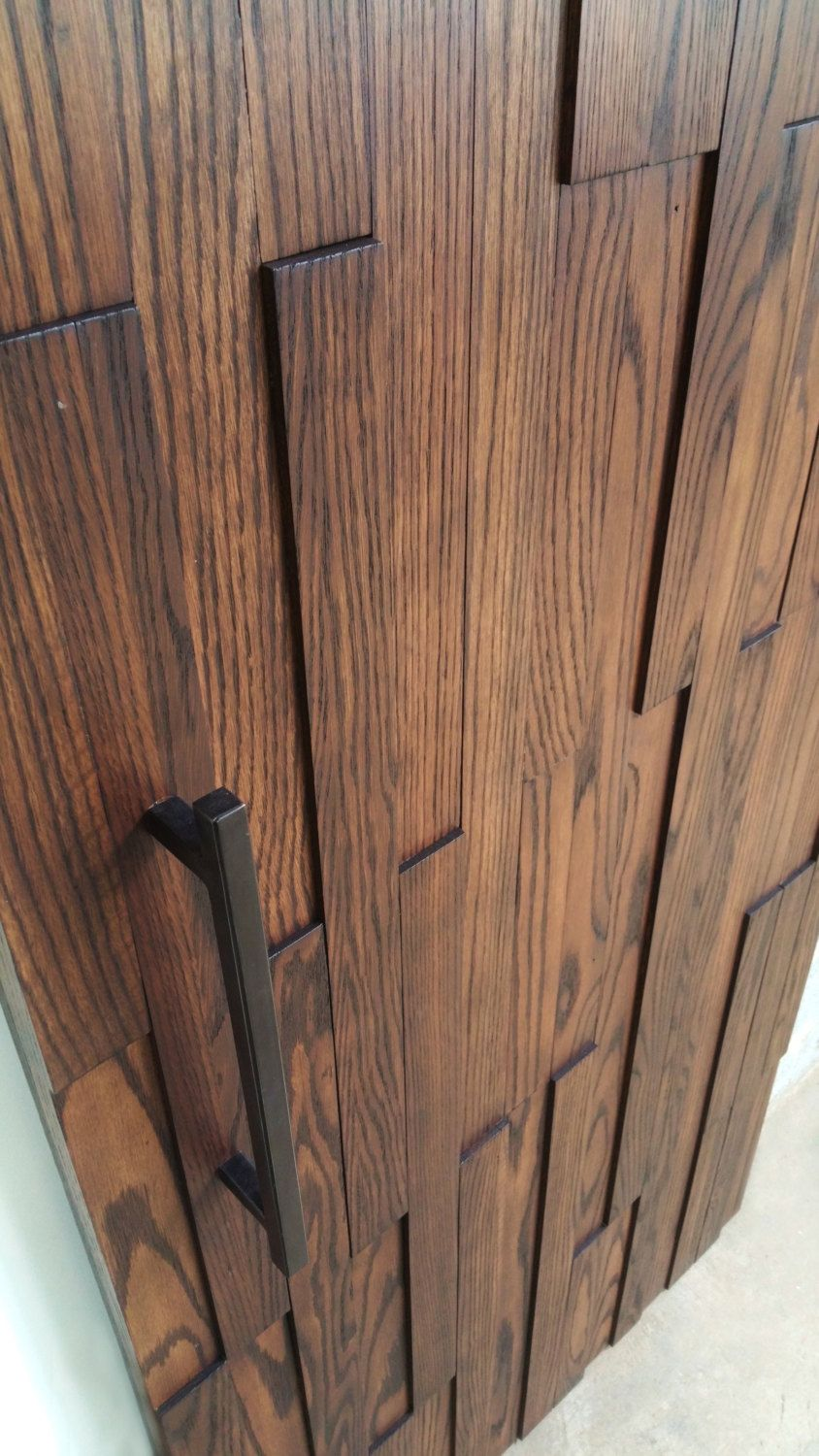 Modern Oak Barn Door - Solid Wood - Home Decor in 2020 ...