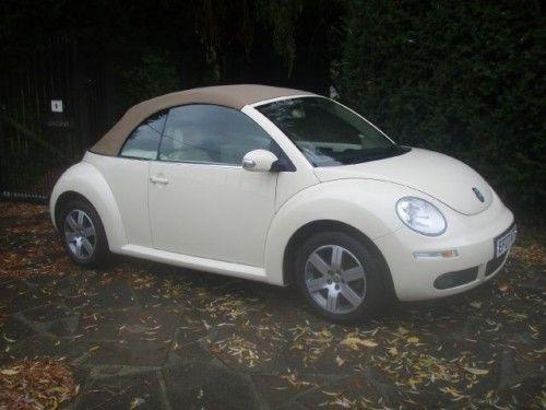 Cream Convertible Beetle