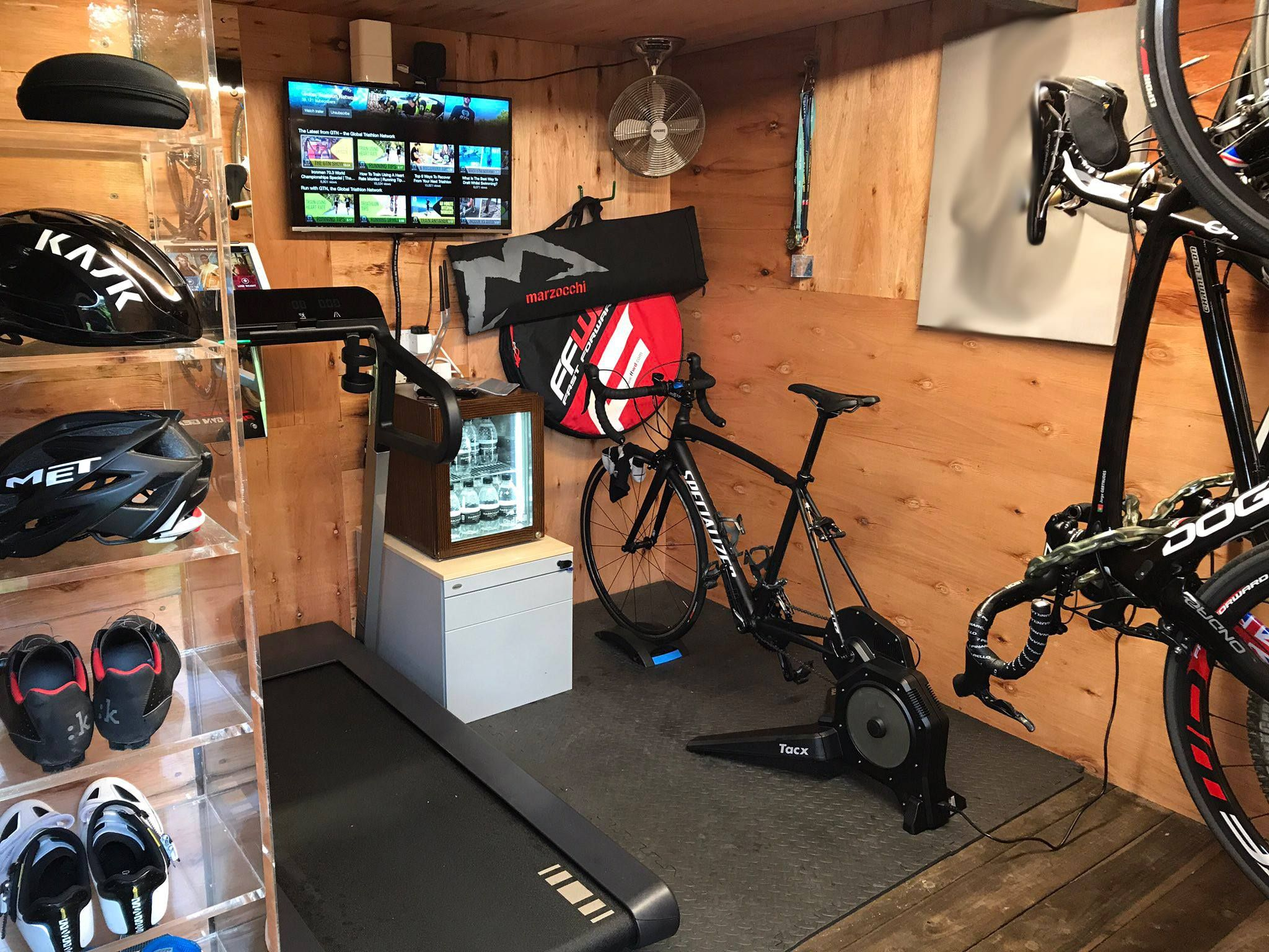 Pin By Ben On Cool Garages Home Gym Garage Bike Room Home Gym Design