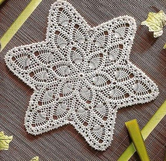 crochet doily table decoration center piece Pineapple by UMKA11 ...
