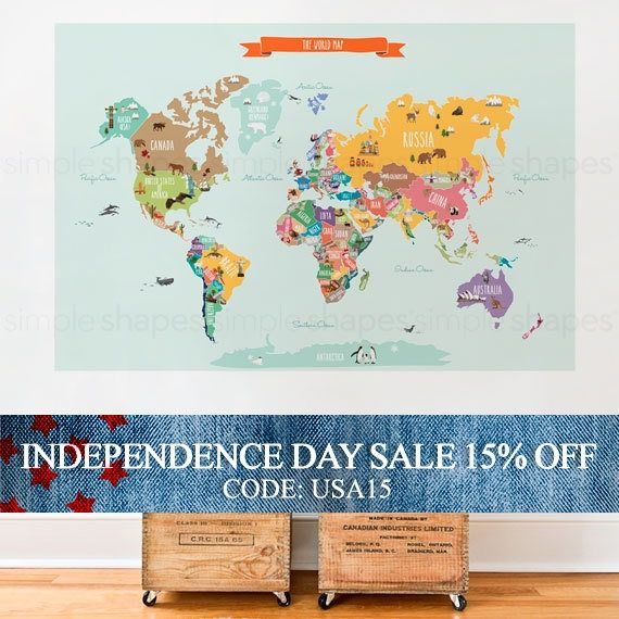 World map decal countries of the world map kids country world map independence day sale world map decal countries of the world map kids country gumiabroncs Image collections