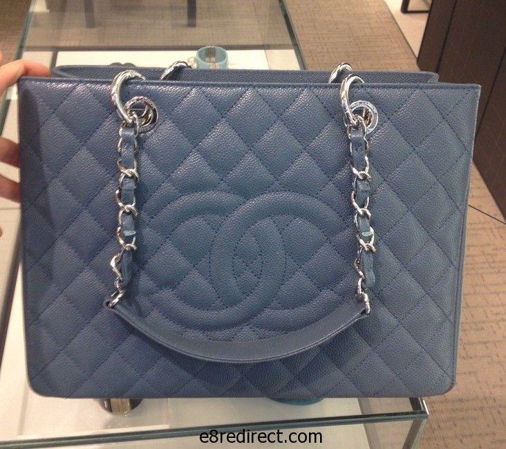 57f1f84628192e Replica Chanel Blue GST Bag - Prefall 2014 | clothes | Chanel, Bags ...