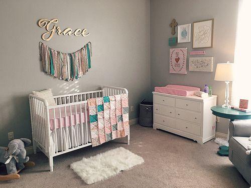 Goodwillista Grace S Nursery Gold Teal Coral Pink