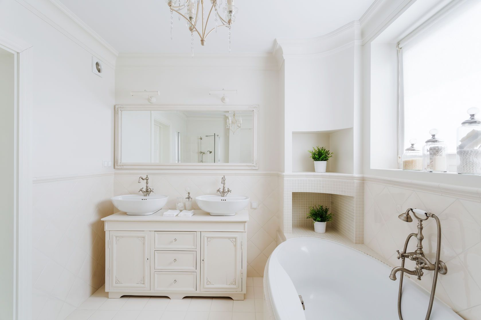 Create The Look French Provincial Bathroom Style White Master