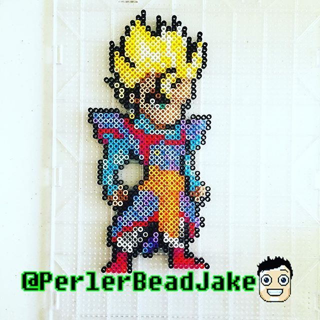 Mystic Gohan Dragon Ball Perler Beads By Perlerbeadjake