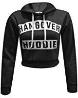 Womens Ladies Hangover Hoodie Print Pull Over Hoody Sweatshirt Crop Top