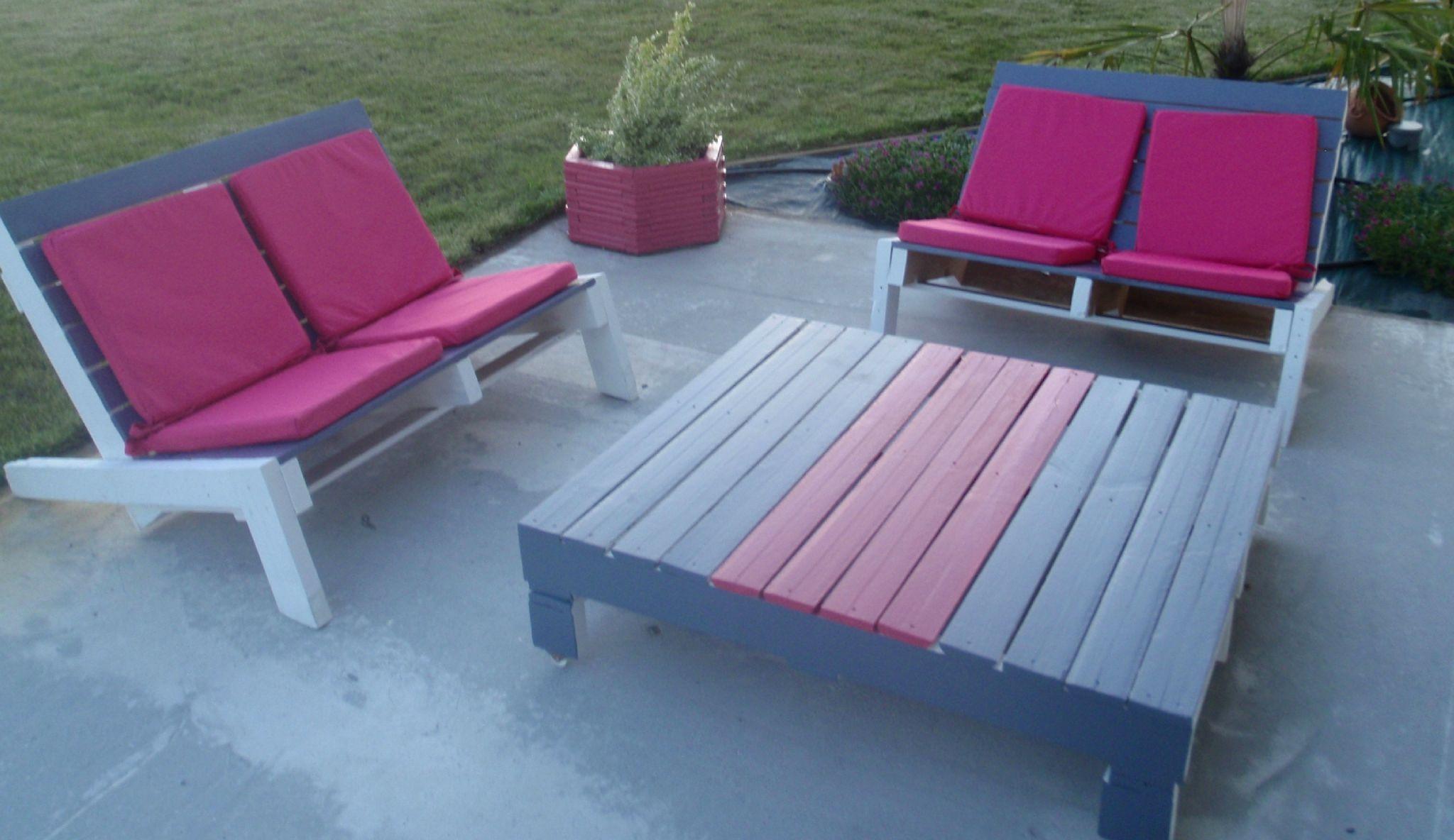 Salon jardin avec palette bois : Realiser un salon de jardin en ...