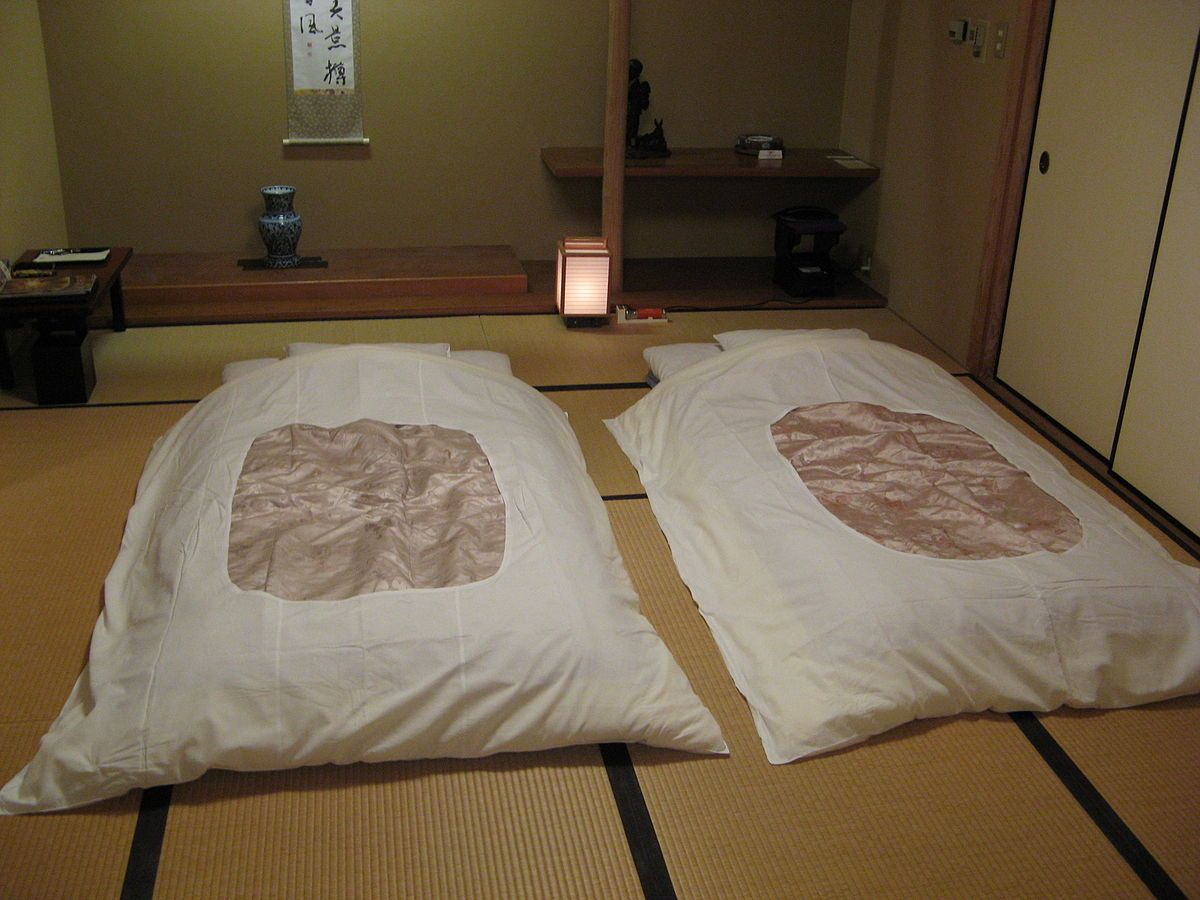 A Futon 布団 Is Traditional Japanese Bedding Comprising Quilted Mattress That