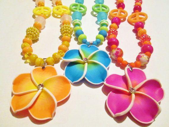 Hawaiian Flower Necklace Hawaiian Flower By Sweetandsassybyjess 10 00 Hawaiian Flowers Flower Necklace Neon Flowers