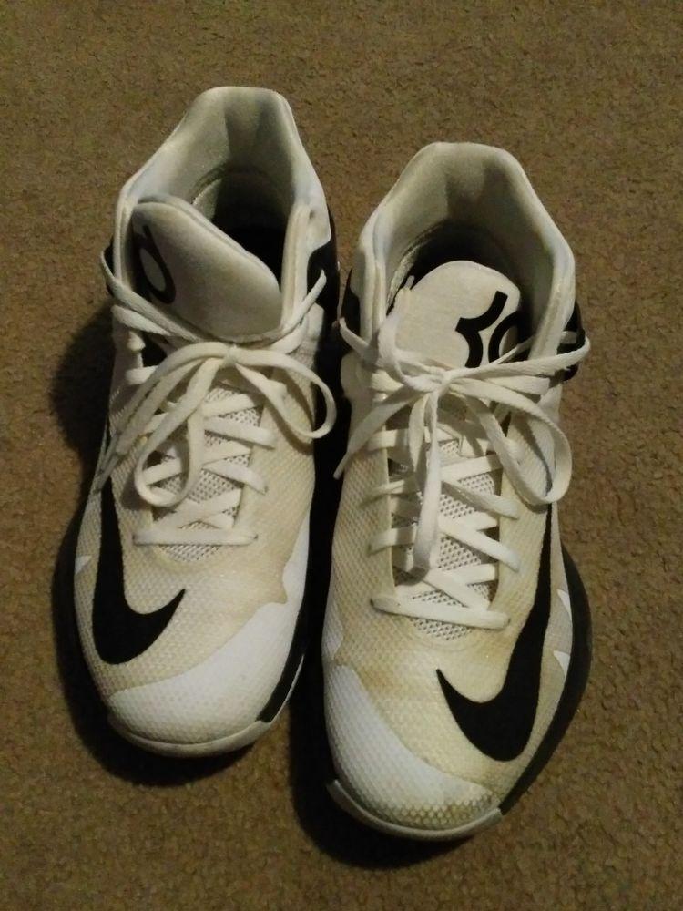 quality design c3431 fa9ad Nike KD Trey 5 IV TB Basketball Shoes 844590-100 White Black Men s size