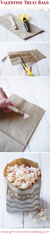 Valentine Treat Bags | www.gimmesomestyleblog.com #valentine #diy