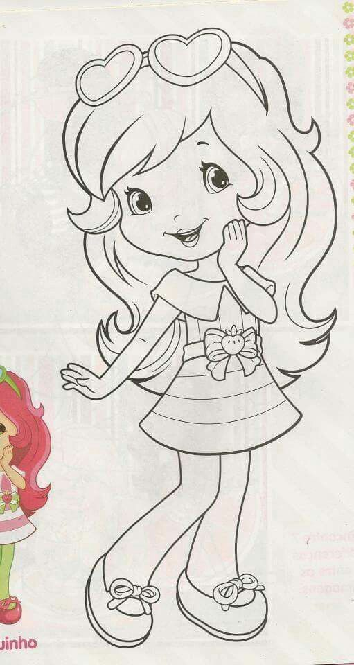 Strawberry shortcake I love you | muñecas | Pinterest | Colorear ...