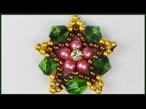 DIY | Stern Ketten Anhänger aus Perlen fädeln | Beaded star pendant with pearls and bicones - YouTube