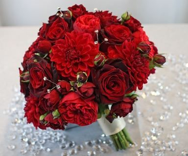 Wedding Bouquet Flowers Red Bridal Add Pic Source On