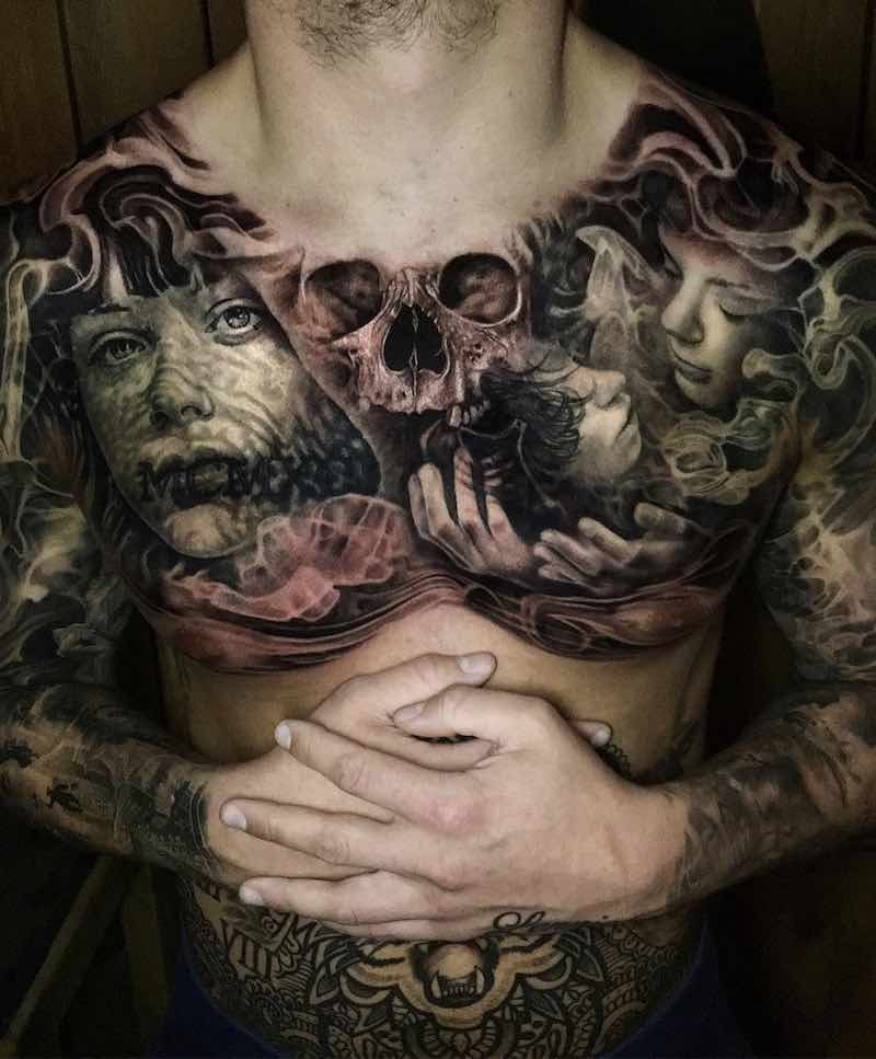 Top 50 Chest Tattoos