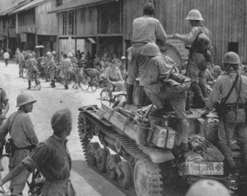 Imperial Japanese Army troops ...