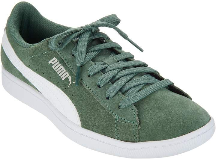 Puma Suede Lace Up Sneakers Vicky Classic on QVC