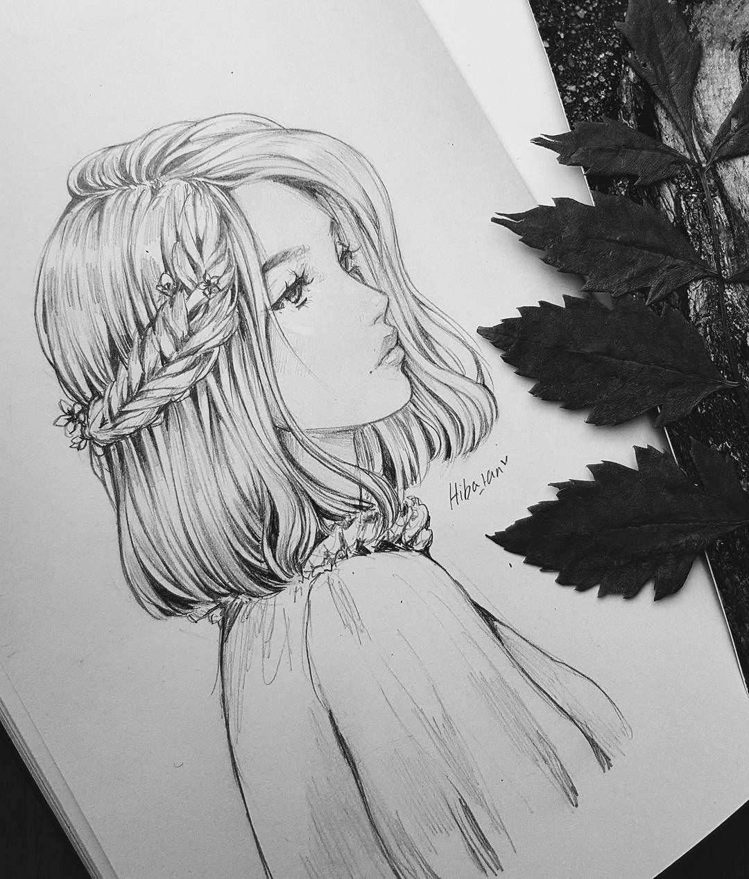 Karakalem Bayan Cizimleri Karakalem Ornek Calismalar Guzel Sozler Art Drawings Sketches Cool Art Drawings Girl Drawing Sketches