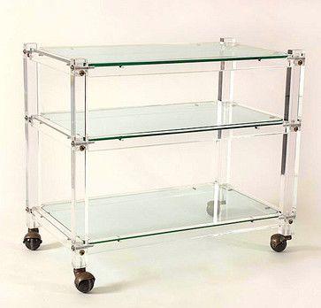 bar cart | Acrylic Bar Cart modern-bar-carts
