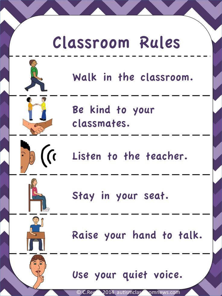 Classroom Welcome Design ~ Visual rules and expectations freebie kindergartenklub
