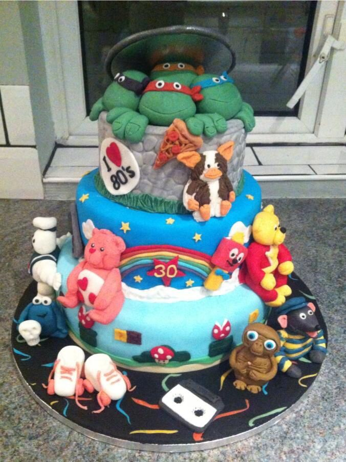 80s cake by Sioned For all your cake decorating supplies