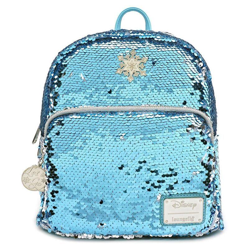 Photo of Loungefly Disney Frozen Elsa Reversible Sequins Mini Backpack