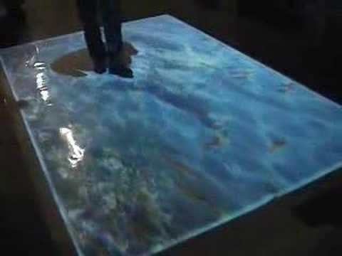 Interactive Digital floor Projection