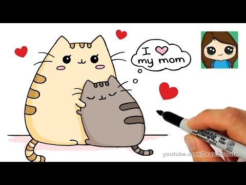 How To Draw Christmas Holiday Pusheen Cat Step By Step Easy And