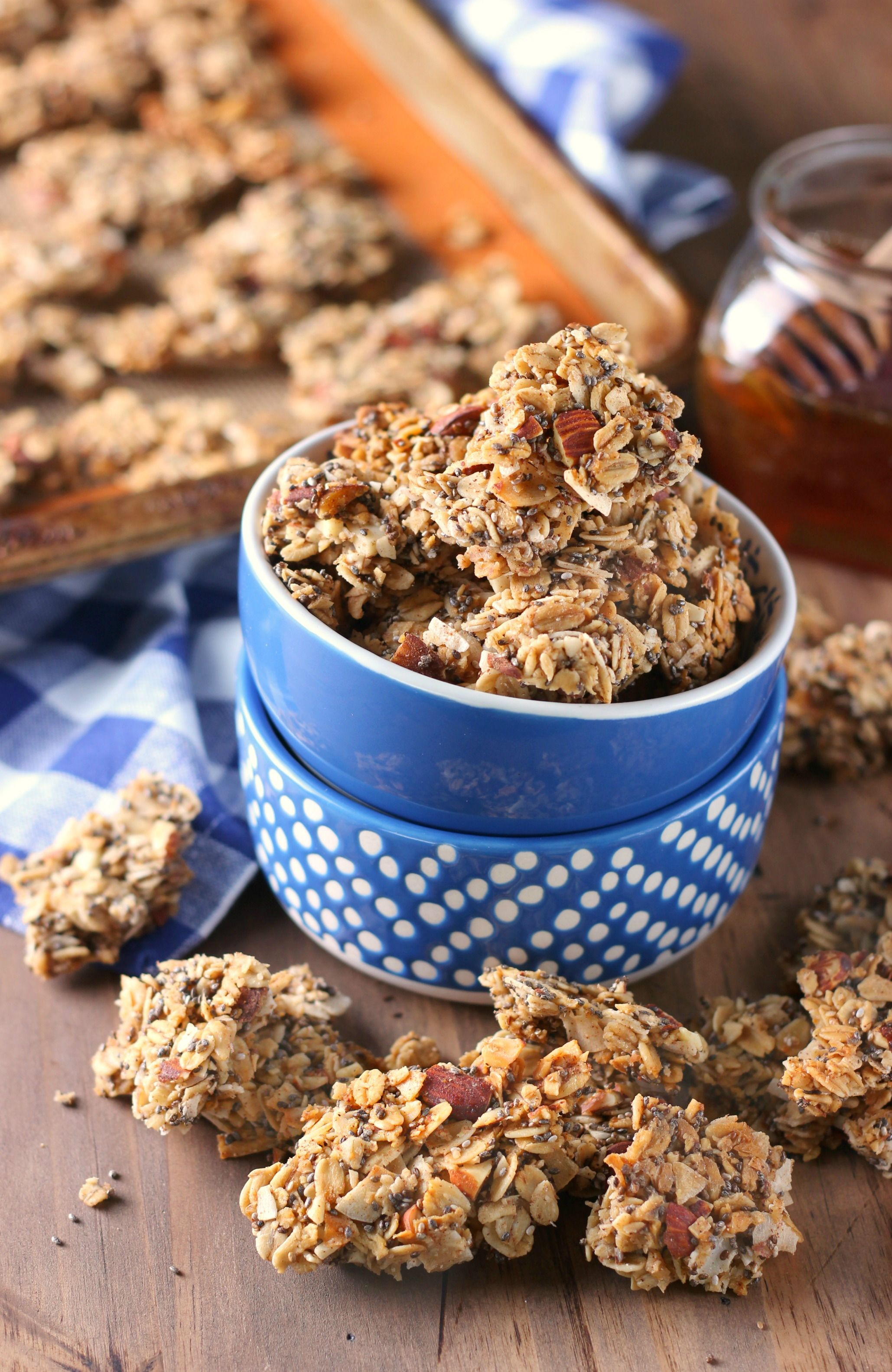 These Coconut Honey Almond Granola Clusters are perfectly