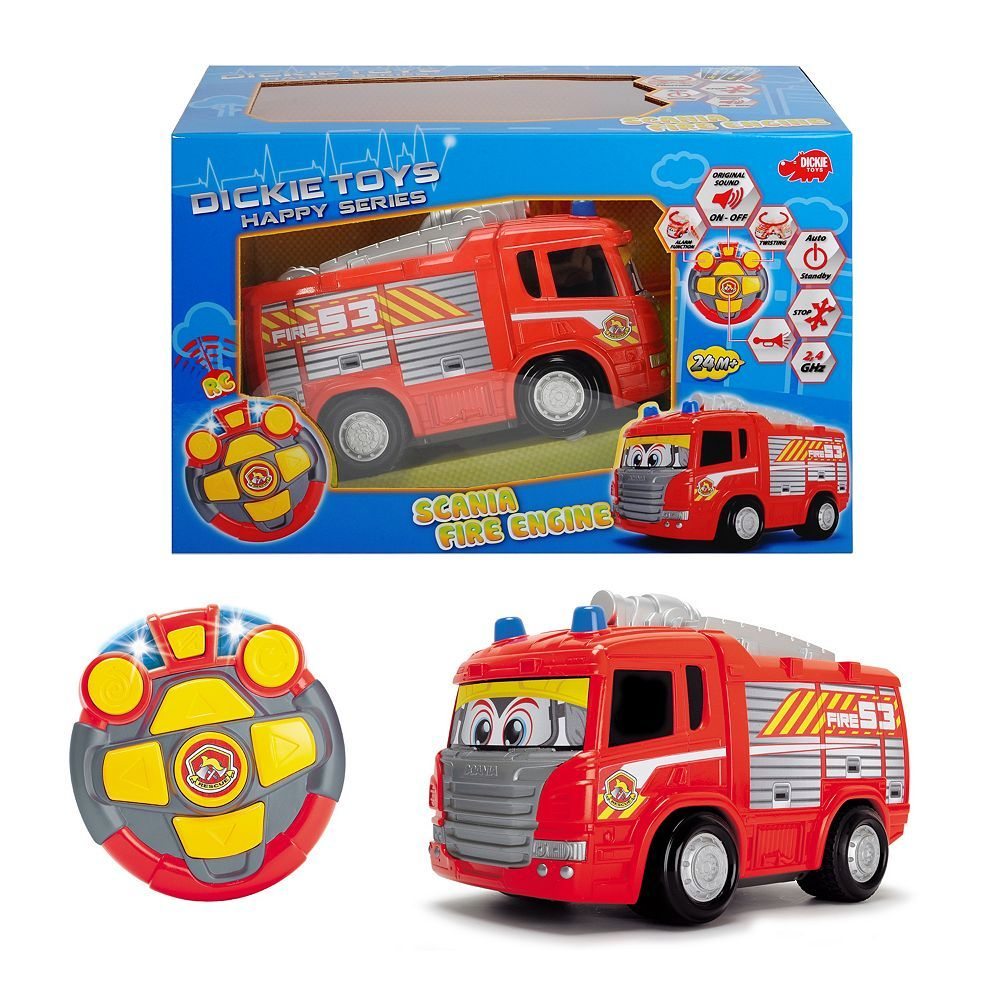 Dickie Toys Remote Control Happy Fire Truck Toys Fire Trucks Trucks