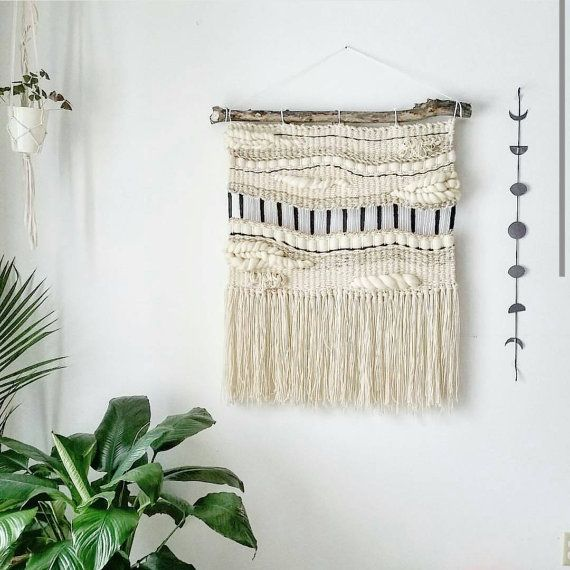 Woven Tapestry Wall Hangings large woven tapestry wall hanging, macramé wall hanging, mid
