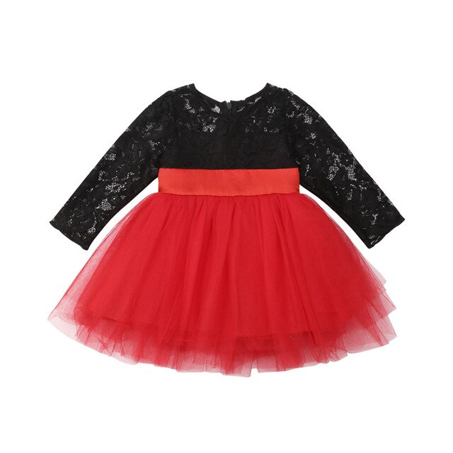Princess Kids Baby Girls Lace Bow Toddler Geometry Tulle Tutu Party Dresses #babygirlpartydresses