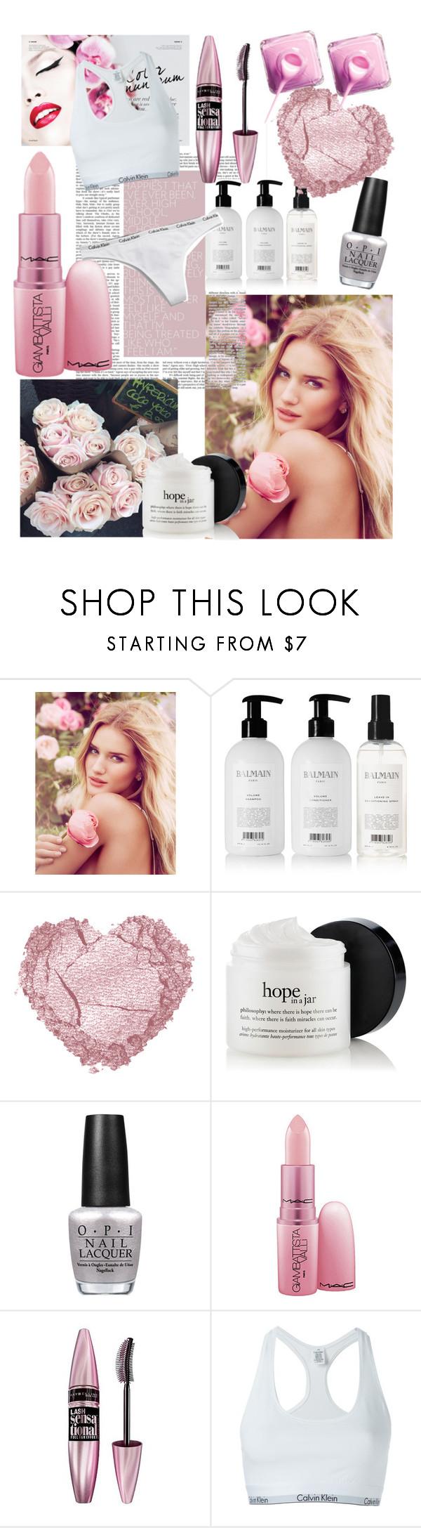 """Beauty edit"" by yana-esterman on Polyvore featuring beauty, M&S, Prada, Balmain, OPI, Giambattista Valli, Maybelline and Calvin Klein Underwear"
