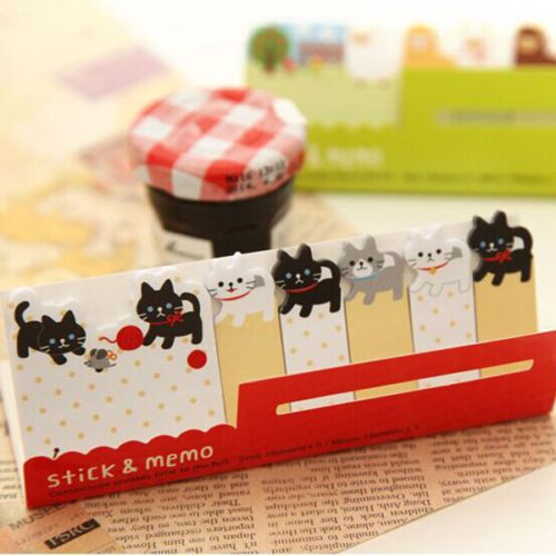 1X-120Page-Sticker-Post-It-Bookmark-Flags-Memo-Sticky-Notes-Cute-Cartoon-Cat-BLS