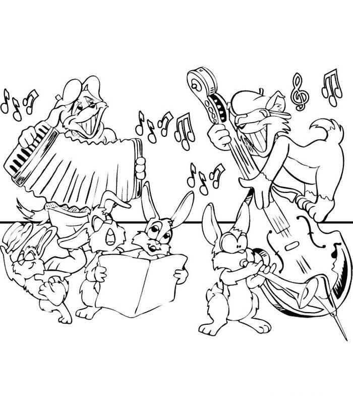 62 coloring pages of Musical Instruments on Kids-n-Funuk On - best of coloring pages with monkeys