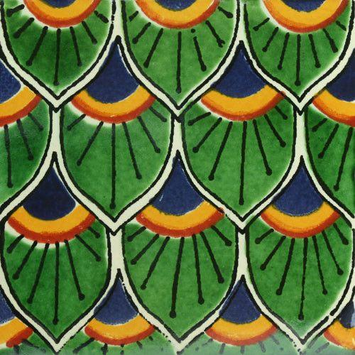 Decorative Mexican Tiles Best Traditional Mexican Tile  Cola De Pavo  Craftsman Traditional Design Decoration