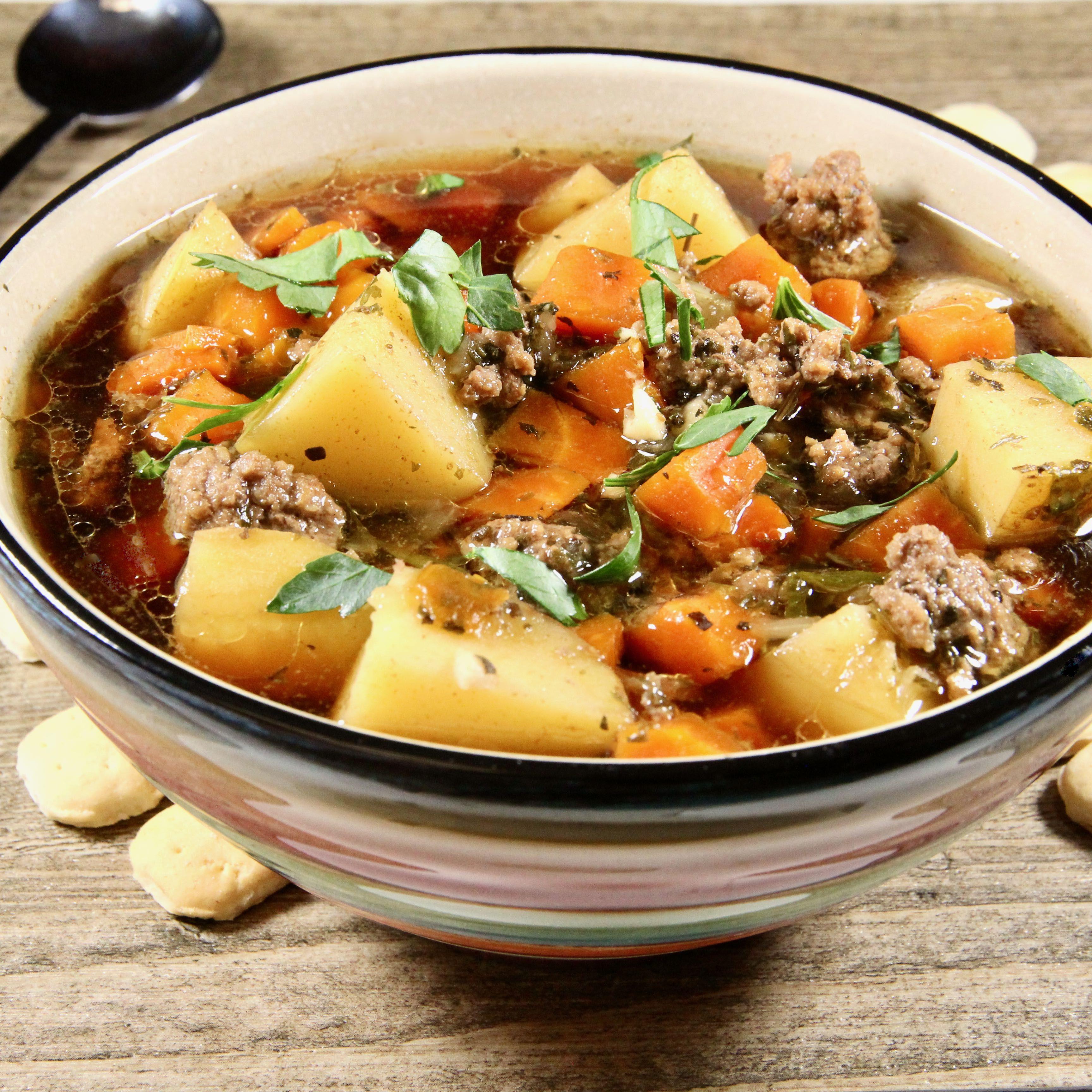 My Mom S Hamburger And Potato Soup Recipe In 2020 Hamburger And Potatoes Potato Soup Soup Recipes