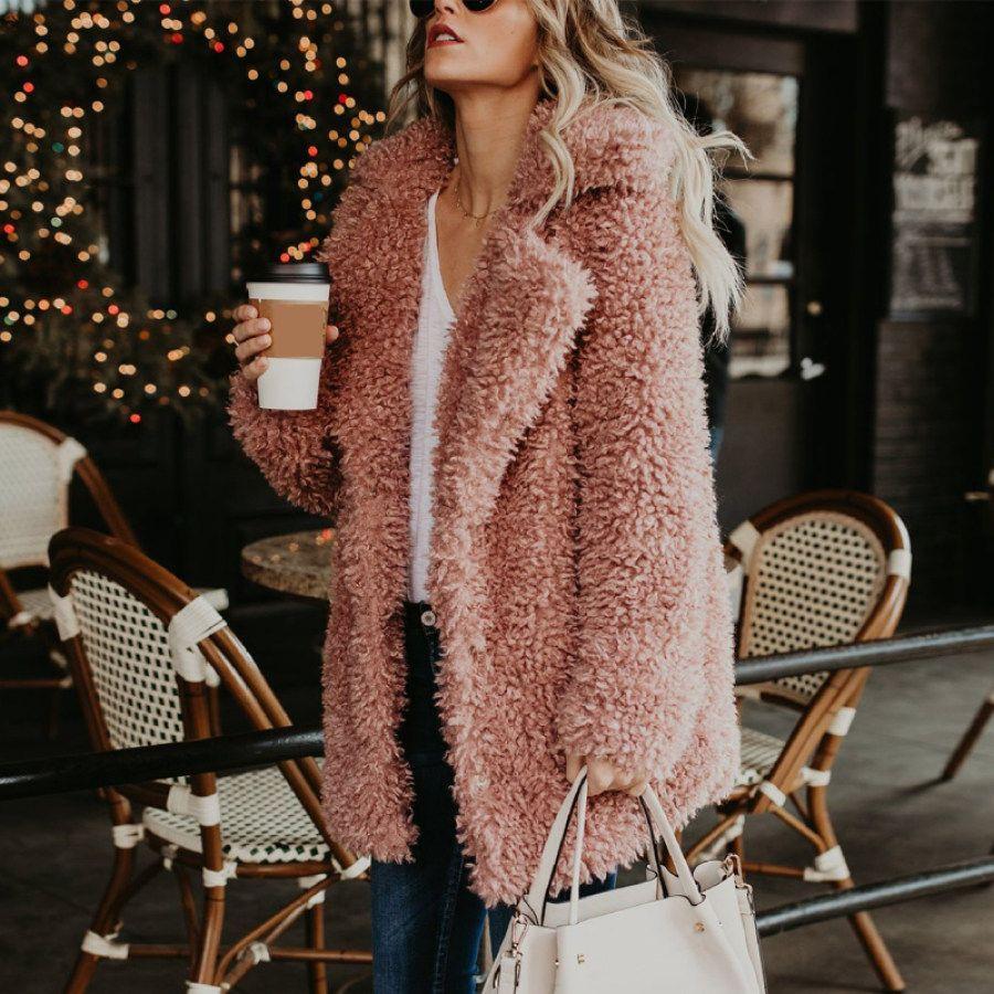Women Brog Coat Casual Shawl Collar Plus Size Outerwear Realyiyi Com In 2021 Fall Fashion Coats Winter Jacket Outfits Fashion [ 900 x 900 Pixel ]