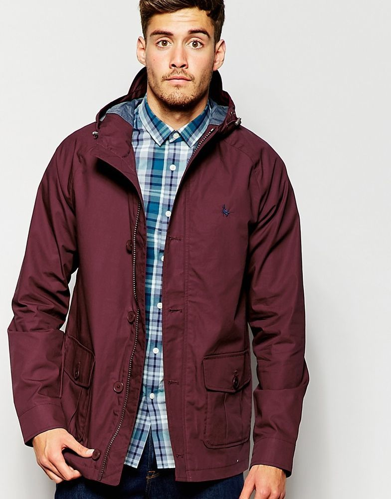 Jack Wills @ ASOS Men's Lightweight Parka Burgundy Size XS Chest ...