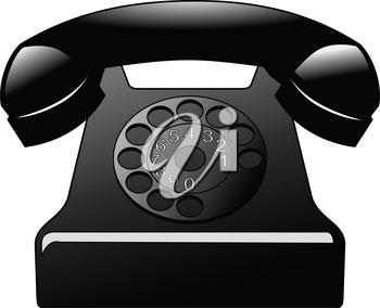vector illustration of vintage phone