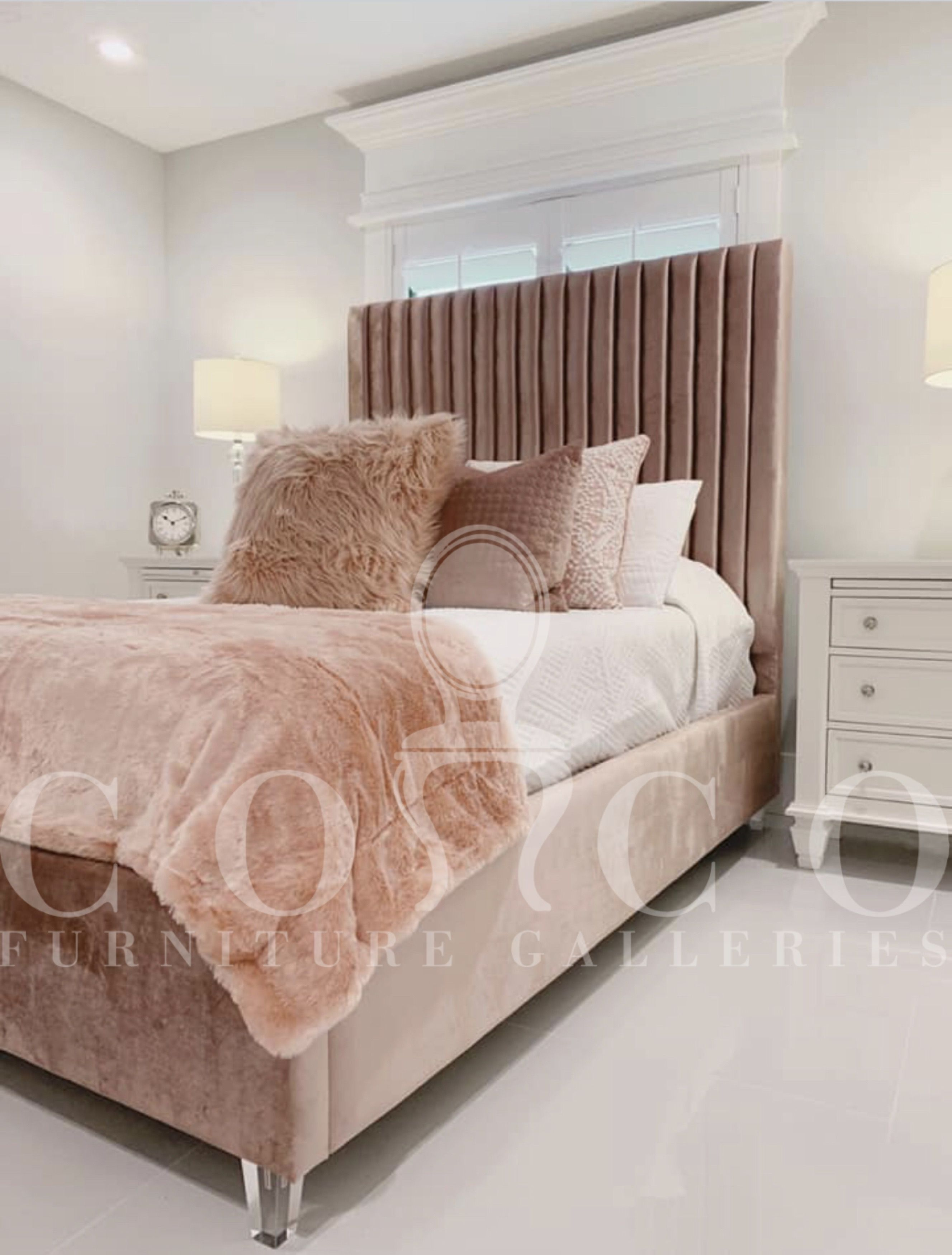 Cecilia Velvet Bed Velvet Bed Velvet Bed Frame Bedroom Trends