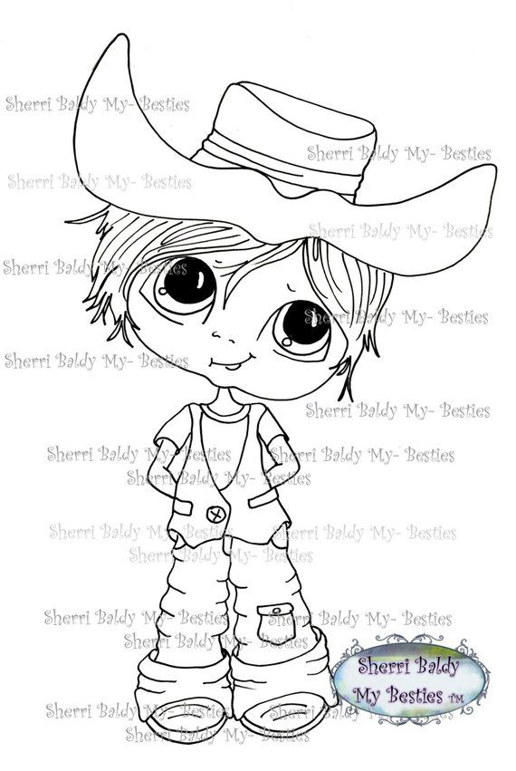 Instant Dowmload Digital Digi Stamps Big Eye Big Head Dolls Digi New My Besties Cow Boy Img115 By Sh Digi Stamps Big Eyes Besties