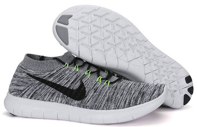 efbe63f47671a 2018 How To Buy Womens Nike Free RN Motion Flyknit Wolf Grey Black White  834584 100