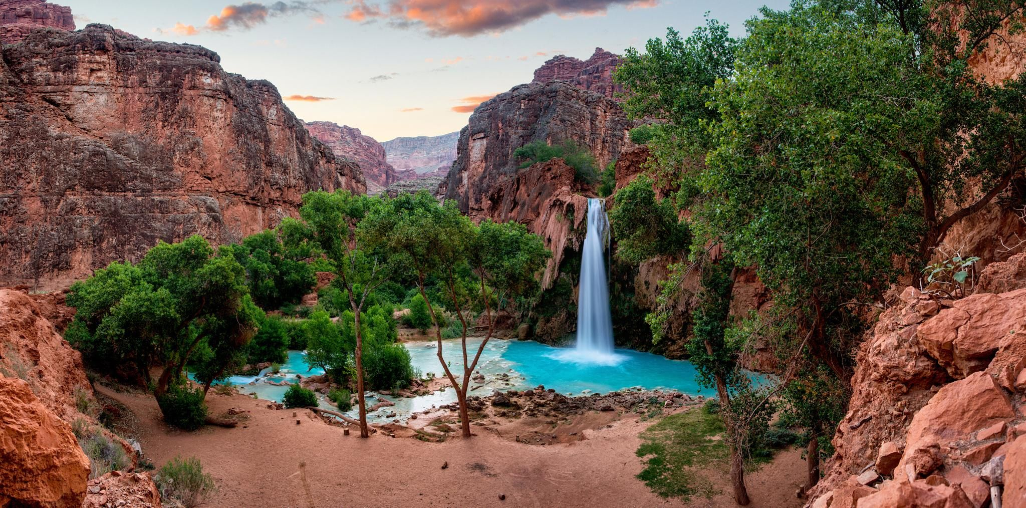 Beautiful Desert Oasis Waterfall Wallpapers Trevel Water 5