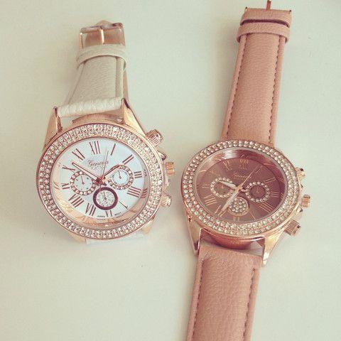 Bezel Rose Gold Watch $32.50