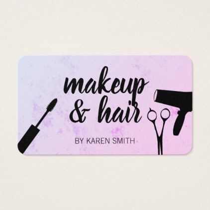 Makeup And Hair Appointment Card Zazzle Com Hair Business Cards Business Cards Hair Salon Salon Business Cards