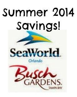 SavingSaidSimply.com   SeaWorld Busch Gardens Summer 2014 Savings   $30 Off  Weekday Ticket #