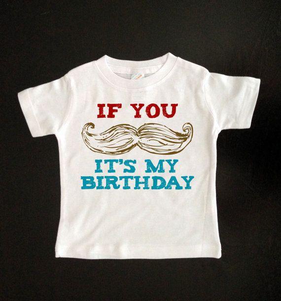 Mustache Birthday Boy T Shirt